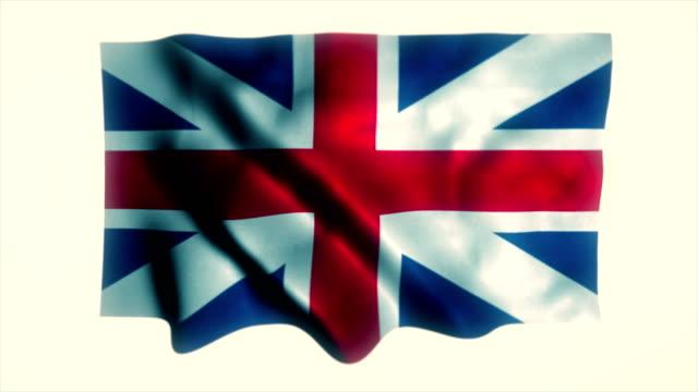 stockvideo's en b-roll-footage met vlag van de britse vlag, uk vlag, verenigd koninkrijk - paalzitten