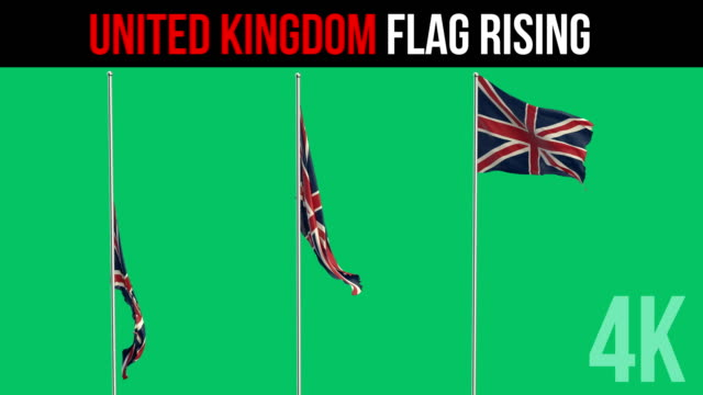 british flag - bandiera del regno unito video stock e b–roll