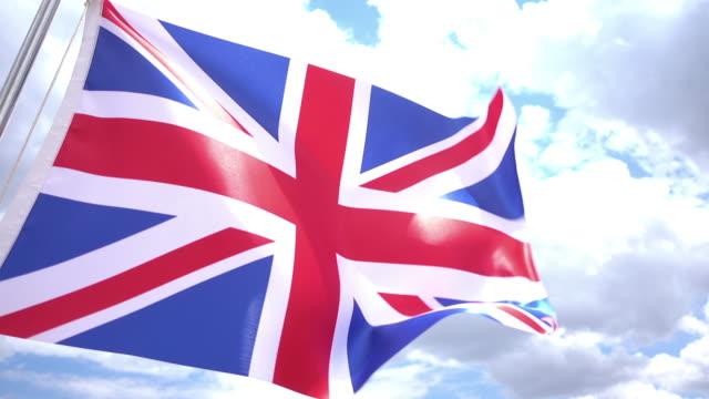 vidéos et rushes de drapeau du royaume-uni - reine monarque