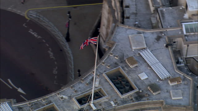 a british flag waves over admiralty arch in london, england. - department of defense stock videos & royalty-free footage