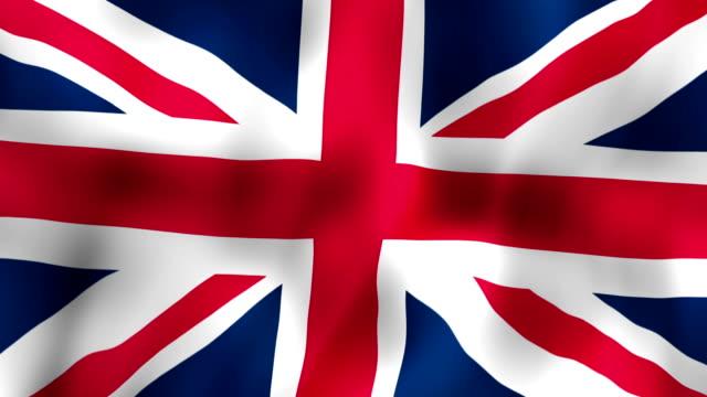 Brittisk flagga vajande i vinden