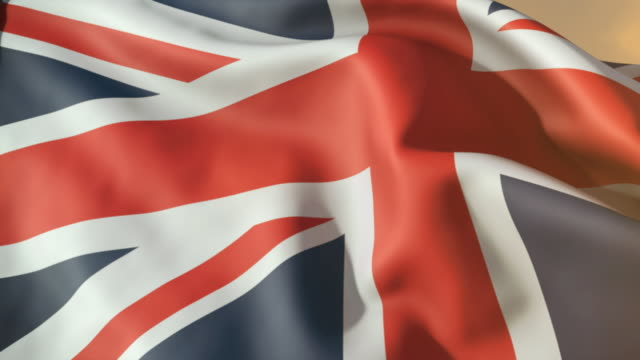 ECU, British flag waving