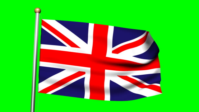 british flag with green screen - british flag stock videos & royalty-free footage