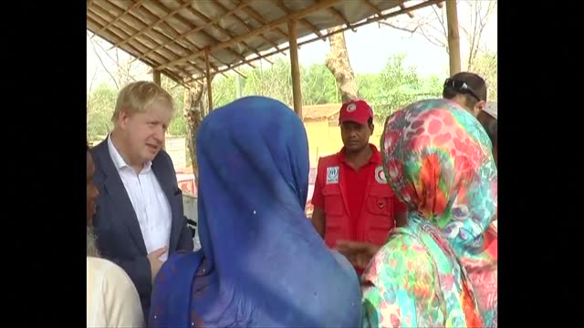 british foreign minister boris johnson visits a rohingya camp in cox's bazar bangladesh - cox's bazar stock videos & royalty-free footage