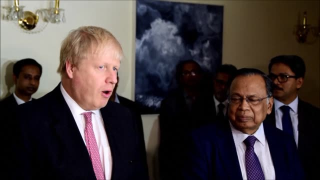 british foreign secretary boris johnson met bangladeshi prime minister sheikh hasina wazed in the capital dhaka on friday commenting among others on... - rohingya culture stock videos and b-roll footage