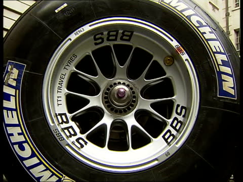 British Grand Prix Damon Hill and Rick Parfitt photocall and interviews General views of Formula One racing car model