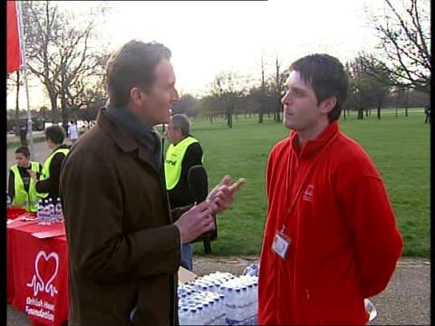 British Heart Foundation Hyde Park Jog event Brockett interview SOT