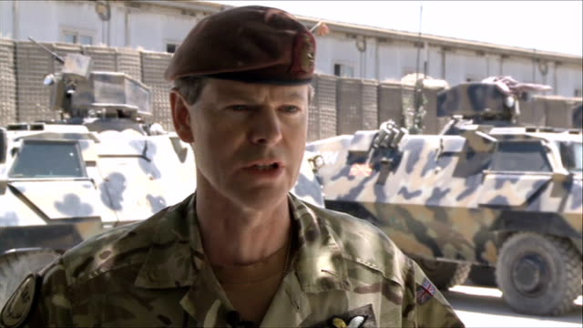 british hostage amongst 4 freed by special forces operation; kabul: ext lieutenant general adrian bradshaw interview sot - isaf can reach into even... - international security assistance force stock videos & royalty-free footage