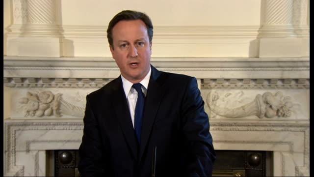 david cameron statement england london downing street david cameron mp statement on failed attempt to save chris mcmanus sot chris mcmanus a british... - bedauern stock-videos und b-roll-filmmaterial