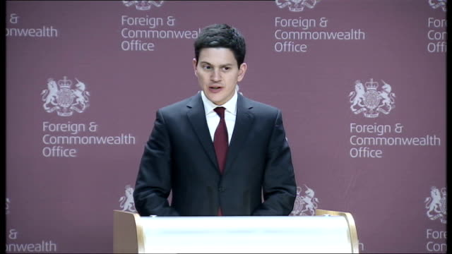 david miliband press conference england london foreign and commonwealth office photography * * david miliband mp along to podium david miliband mp... - moving office stock videos and b-roll footage