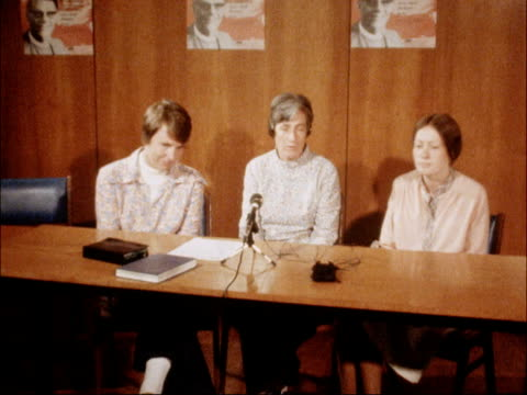 british hostages in iran: returned missionaries interviewed; england: london: int margaret knill interview sof - quite a lot of the time has been... - missionary stock videos & royalty-free footage