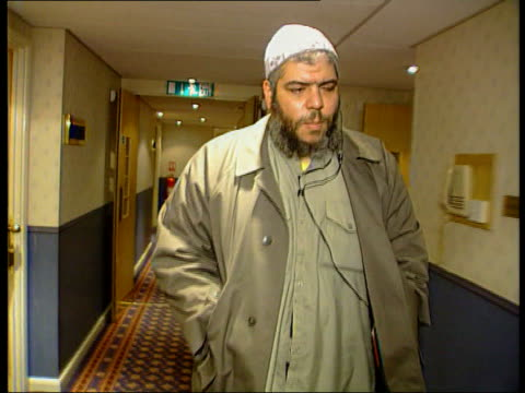 British hostages/prisoners kidnappers trial LIB Birmingham Sheik Abu Hamza along Sheik Abu Hamza interview SOT Talks of the islamic activities of his...