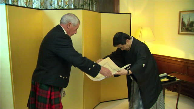 british judo legend who has been practising the sport since he was 8 has been honoured by the emperor of japan 73 year old george kerr who also... - emperor of japan stock videos and b-roll footage