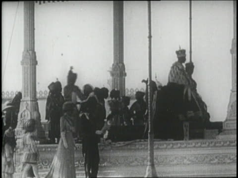british king george v and queen mary visit india for george's coronation as emperor of india - colonial stock videos & royalty-free footage
