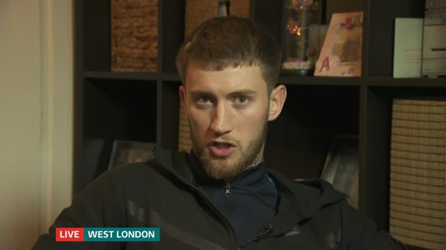 british man jailed in dubai: interview with friend alfie cain; england: london: gir: int alfie cain live 2-way interview sot - itv lunchtime news stock videos & royalty-free footage