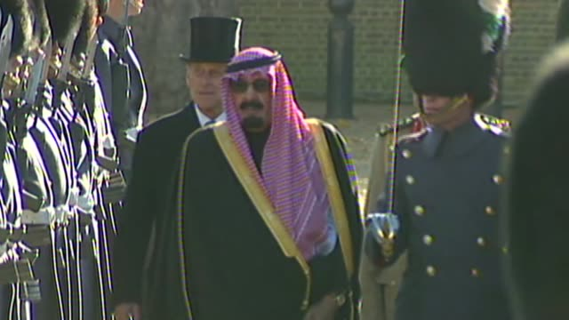british man sentenced to flogging / david cameron raises case; r30100702 horse guards parade: king abdullah bin abdul aziz al saud along to inspect... - prince stock videos & royalty-free footage