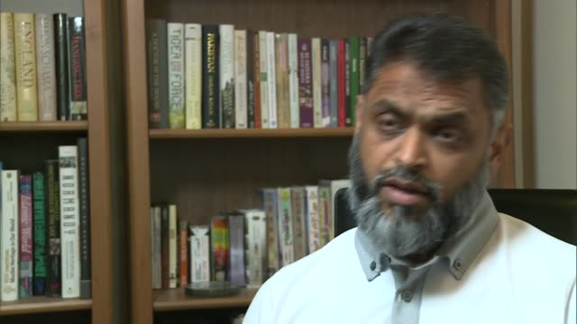 british man shaker aamer to be released from guantanamo bay; london: int moazzam begg interview sot - series of things that shaker is witness to that... - moazzam begg stock videos & royalty-free footage