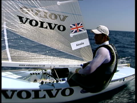 British medal hopes for 2004 Olympics Ben Ainslie speaking as sailing along SOT Great day perfect day for sailing bit shifty but good to have some...
