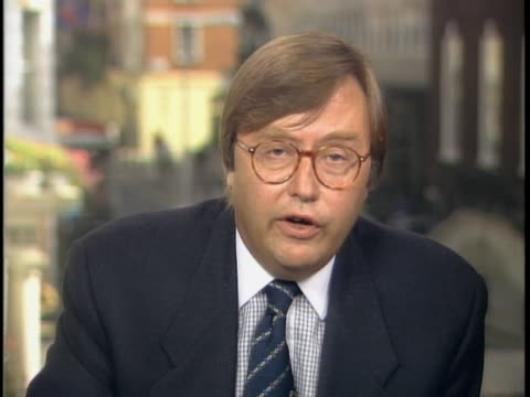 """british media columnist, david mellor comments on how much the first photo of dodi and diana costed. david mellor states, """"you know the guy who took... - columnist stock videos & royalty-free footage"""