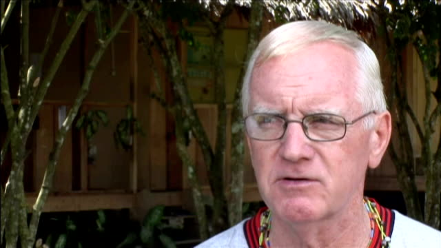 british missionary brother paul mcauley; brother paul mcauley interview sot - authorities don't like us standing up for native indians in rainforest... - missionary stock videos & royalty-free footage