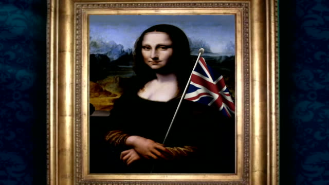 British Mona Lisa painting goes on display Framed fake portrait of the Mona Lisa DISSOLVE TO Framed 'original' portrait of the Mona Lisa DISSOLVE TO...