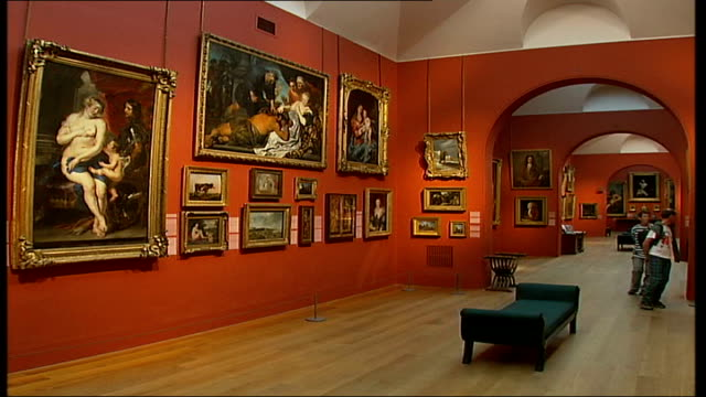 British Mona Lisa painting goes on display General view of paintings hanging in exhibition DISSOLVE TO
