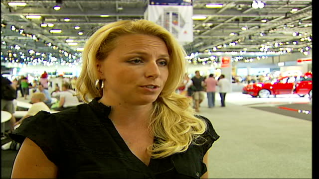 British Motor Show held at Excel Centre in London INT Kirsty Adams interview SOT this is full day's activity so if you're not massively interested in...
