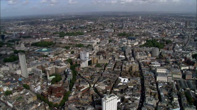 british museum  - aerial view - england, greater london, camden, united kingdom - wide stock videos & royalty-free footage