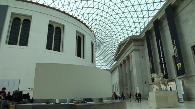 british museum, great court, london - british museum stock videos & royalty-free footage