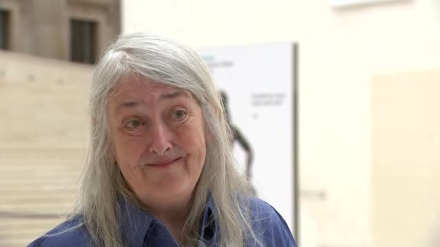 british museum re-opens: mary beard interview; england: london: the british museum int mary beard interview sot. q: how important to be back? -... - out of context stock videos & royalty-free footage