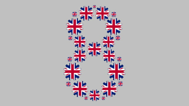 british number eight - number 8 stock videos & royalty-free footage