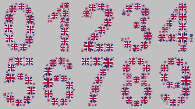british numbers set - number 9 stock videos & royalty-free footage