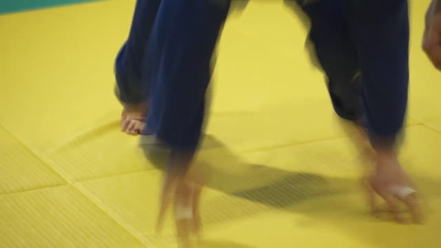 british olympic and paralympic judo hopefuls training in tokyo - throwing stock videos & royalty-free footage
