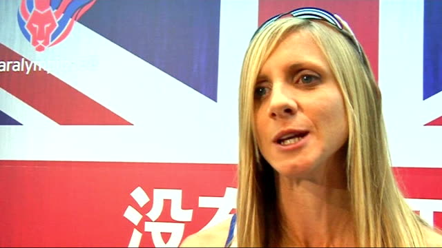 British Olympic kit launch Yelling seen talking to reporter Yelling interview SOT Only nine weeks to go/In hard training phase/Going to Florida to...