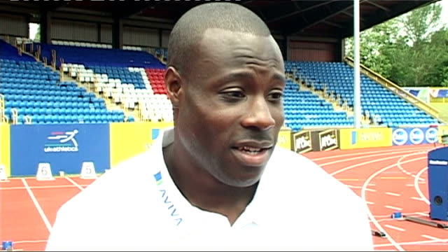 british olympic trials / interviews; ext edgar interview set-ups edgar interview sot - olympic trials come round every four years so big weekend for... - radio 1 big weekend stock-videos und b-roll-filmmaterial