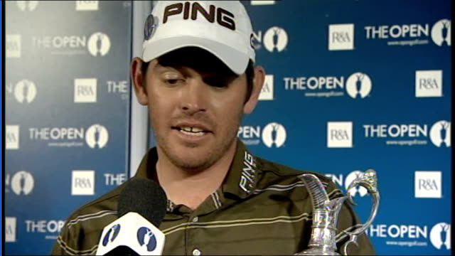 stockvideo's en b-roll-footage met louis oosthuizen wins int louis oosthuizen press conference sot on winning his first open at st andrews - british open