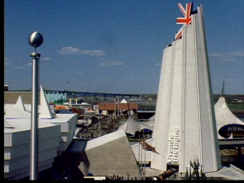 british pavilion, view of the fair from the top. - prelinger archive stock videos & royalty-free footage