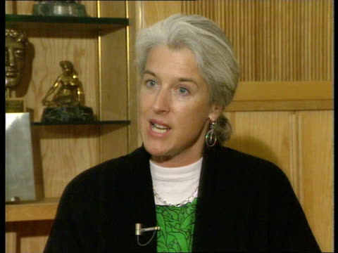 British PM Margaret Thatcher delivers 'green' speech to United Nations ITN London ITN Studio Sara Parkin Green Party intvwd SOF The Greens have been...