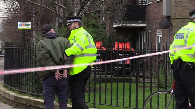 """british police on thursday evacuated a school in north london after """"a bomb threat."""" videos and photos emerged on social media accounts as students... - terrorism stock videos & royalty-free footage"""