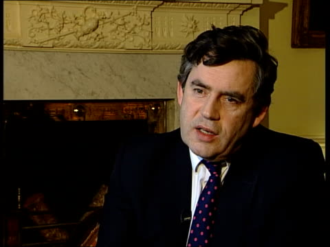 british politics itn england london downing street int gordon brown mp interview sot united/ we're agreed on need to disarm saddam hussein fact that... - biological process stock videos and b-roll footage