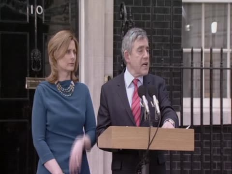 british prime minister and leader of the labour party gordon brown has announced his decision to tender his resignation to the queen following the... - may stock videos & royalty-free footage