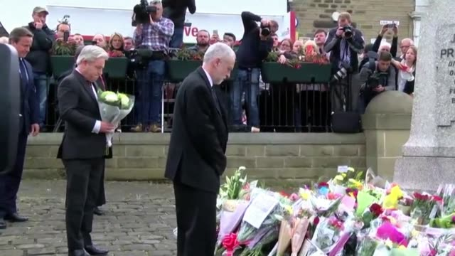 british prime minister david cameron called for tolerance in public debate on friday near the spot where mp jo cox was gunned down as it was... - david cameron politician stock videos & royalty-free footage
