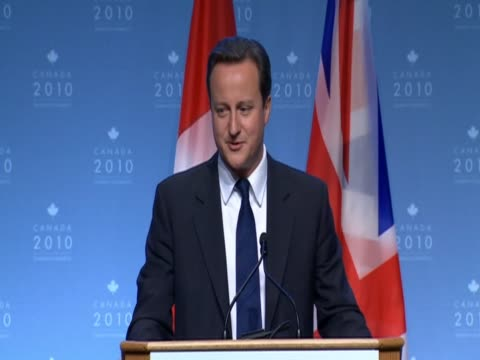 british prime minister david cameron delines to comment on wages of england football team following their disappointing performance in fifa 2010... - fifa world cup 2010 stock videos & royalty-free footage