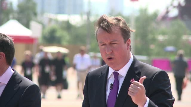 british prime minister david cameron said thursday on the eve of the opening of the london olympics that his top priority for the games is their... - prime minister of the united kingdom stock videos & royalty-free footage