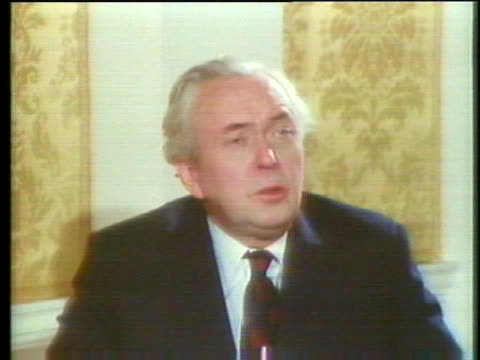 british prime minister harold wilson says that his resignation will not change the policies of his government - business or economy or employment and labor or financial market or finance or agriculture stock videos & royalty-free footage
