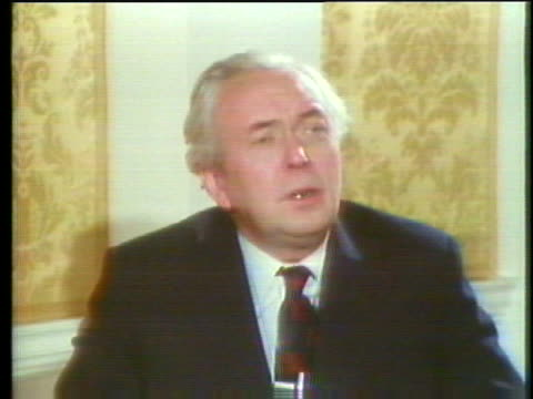 british prime minister harold wilson says that his resignation will not change the policies of his government. - business or economy or employment and labor or financial market or finance or agriculture stock videos & royalty-free footage