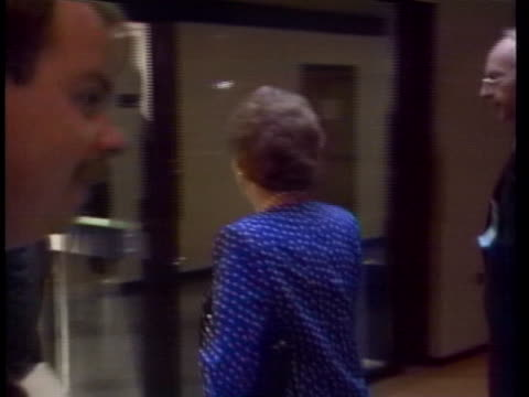 stockvideo's en b-roll-footage met british prime minister margaret thatcher arrives at a nato meeting on arms control - (war or terrorism or election or government or illness or news event or speech or politics or politician or conflict or military or extreme weather or business or economy) and not usa