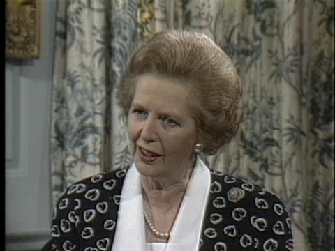 british prime minister margaret thatcher says that america is the leader of the free world. - united states and (politics or government) stock videos & royalty-free footage