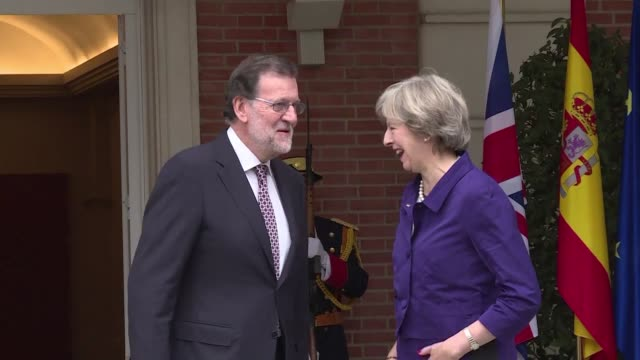 British Prime Minister Theresa May is in Madrid to meet her Spanish counterpart Mariano Rajoy