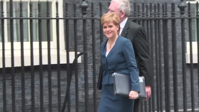 British Prime Minister Theresa May meets the first ministers of Scotland Wales and Northern Ireland in London where she will face calls for each...